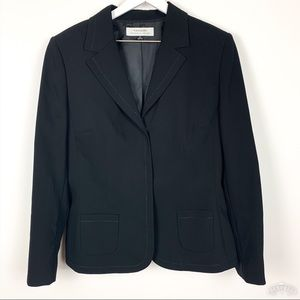 Tahari | Black Stitch Trim Blazer